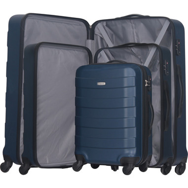 Smartway set di valigie trolley rigide, piccola media e grande