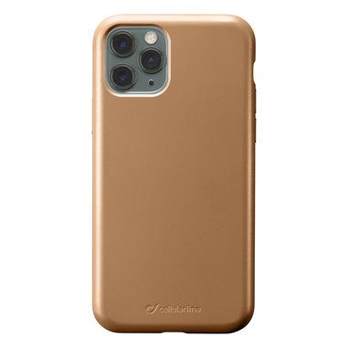 Cellularline Sensation - iPhone 11 Pro Max Custodia in silicone soft touch Bronzo