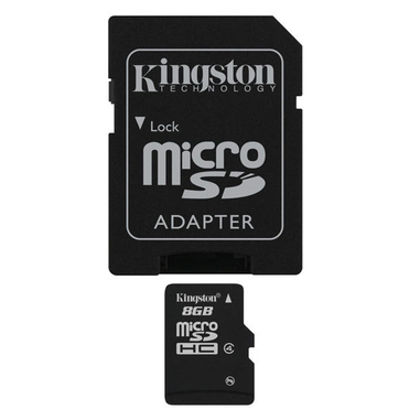 Kingston Technology 8GB microSDHC 8GB MicroSD Flash memoria flash
