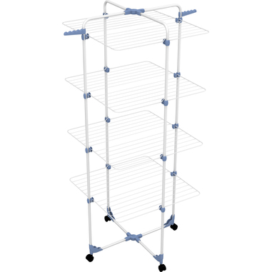 Gimi Modular 4 Stendibiancheria da pavimento Blu, Bianco
