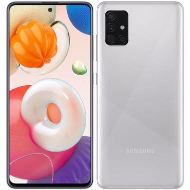 """Samsung Galaxy A51 128 GB Display 6.5"""" FHD+ SuperAMOLED Prism Crush Silver"""