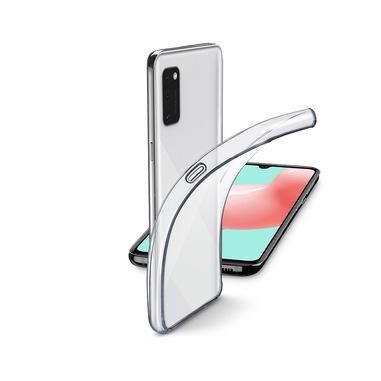 Cellularline Fine - Galaxy A41 Cover in gomma morbida ultra sottile e trasparente Trasparente