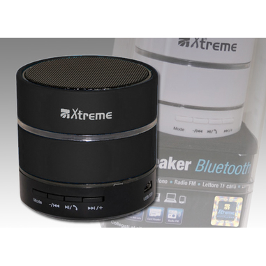 Xtreme speaker bluetooth con microfono nero