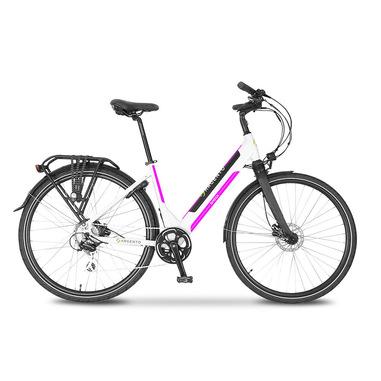 "Argento Bike Omega Nero, Porpora, Bianco Alluminio 71,1 cm (28"") 25 kg"