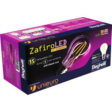 Lampadine beghelli zafiro led kit risparmio for Kit lampadine led