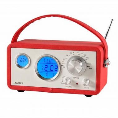Audiola WR-774 AX Orologio Rosso radio