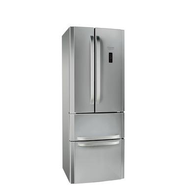 Hotpoint E4DY AA X C frigorifero side-by-side Libera installazione 372 L Acciaio inossidabile