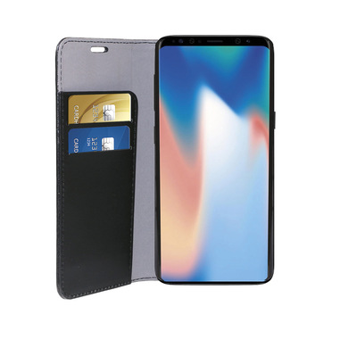 Phonix Custodia a Libro in Ecopelle per Samsung Galaxy S9 - Nera