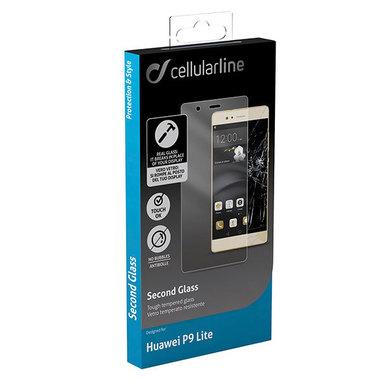 Cellularline Second Glass - P9 Lite Vetro temperato trasparente e resistente Trasparente