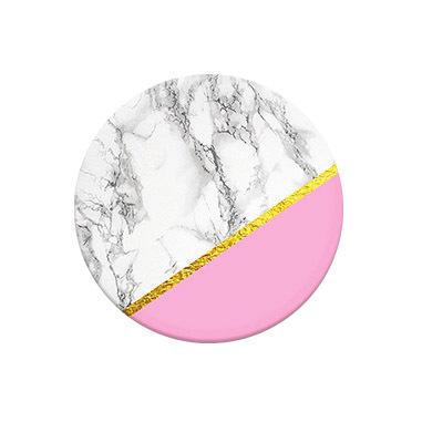 PopSockets Marble Chic Telefono cellulare/smartphone Grigio, Color marmo, Rosa
