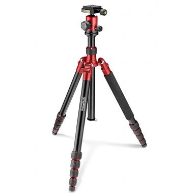 PRIMA Travel Kit Large Fotocamere digitali/film Nero, Rosso treppiede