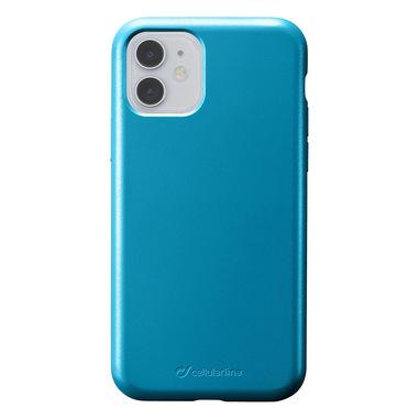 Cellularline Sensation - iPhone 11 Custodia in silicone soft touch Petrolio