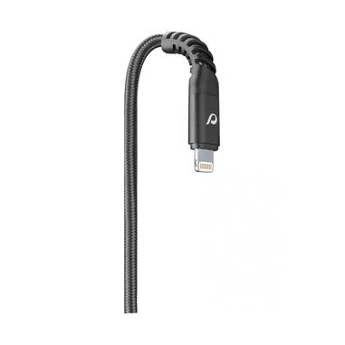 Cellularline TETRACABMFI2MK USB A Lightning Nero, Grigio cavo di interfaccia e adattatore