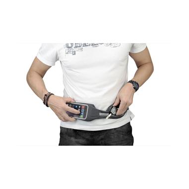 Cellularline Waistband View - Universale Fascia per lo sport universale con finestra touch screen Nero