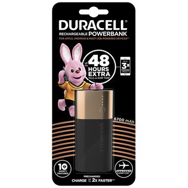 Duracell Powerbank 6700 mAh batteria portatile Nero, Oro