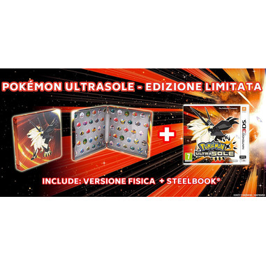 Pokémon Ultra Sole + steelbook - Nintendo 3DS