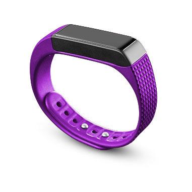 Cellular Line Easyfit Touch Wristband activity tracker Senza fili IP67 Nero, Porpora