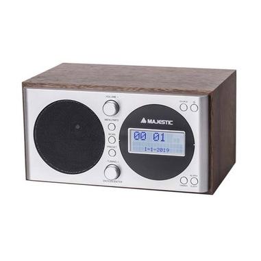 New Majestic WR-162 DAB radio Digitale Argento, Legno