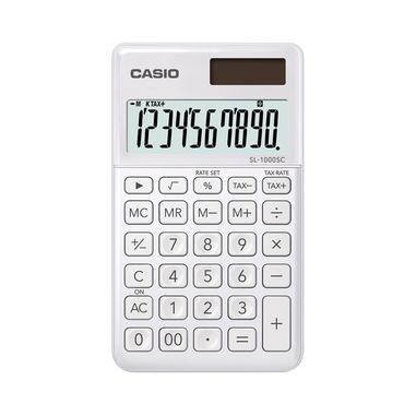 Casio SL-1000SC-WE calcolatrice Tasca Calcolatrice di base Bianco