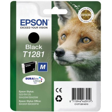Epson Fox Cartuccia di inchiostro Black T1281 DURABrite Ultra Ink