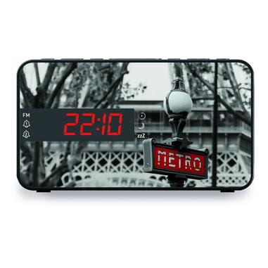 Bigben Interactive RR15METRO radio Orologio Nero, Bianco