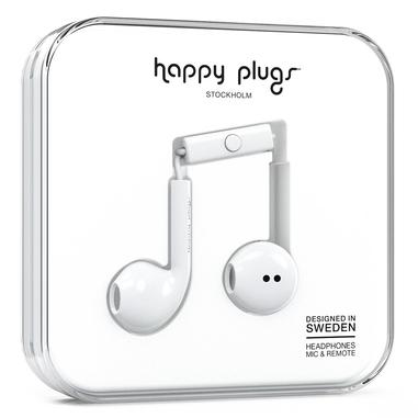 Happy Plugs Earbud Plus Auricolare Bianco