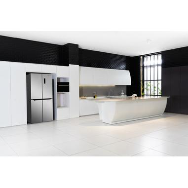 Electroline 4DE-459HBME frigorifero side-by-side Libera installazione Nero, Acciaio inossidabile 401 L A+