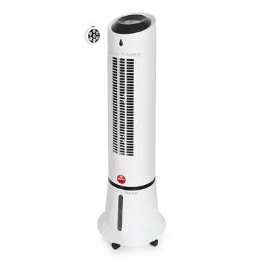Macom Breeze Tower Ventilatore Raffrescatore evaporativo a torretta oscillante Telecomando incluso