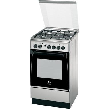 Indesit KN1G21S(X)/I Libera installazione Gas A Acciaio inossidabile cucina