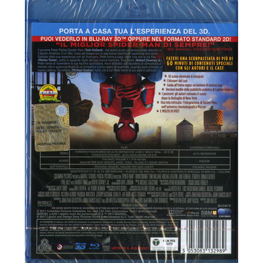 Spider-Man: Homecoming (Blu-Ray) 3D Blu-ray 2D+3D Inglese, ITA