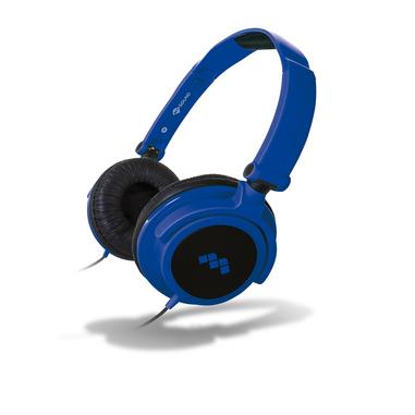 MySound Speak SMART FLUO Padiglione auricolare Stereofonico Cablato Nero, Blu auricolare per telefono cellulare