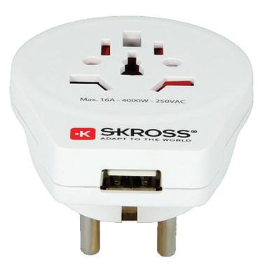 Skross adattatore mondo a Europa USB A Shucko