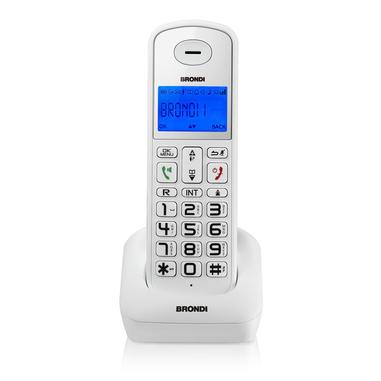 Brondi Bravo Style DECT telefono cordless Bianco