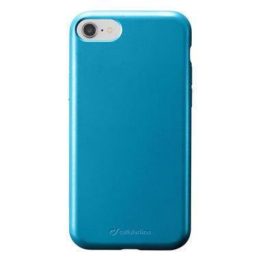 Cellularline Sensation - iPhone 8/7/6 Custodia in silicone soft touch Petrolio