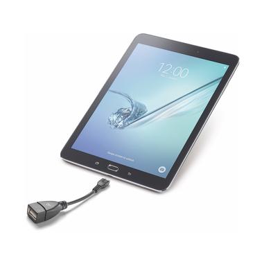 Cellularline USB On The Go For Tablets - Micro USB Adattatore da porta Micro USB a porta USB per tablet Nero