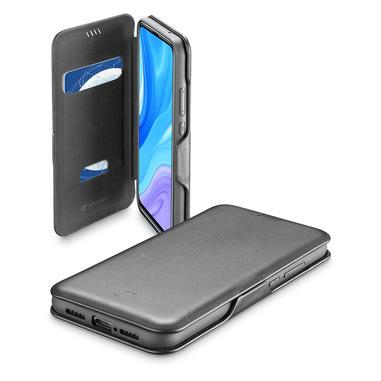 Cellularline Book Clutch - P Smart Pro Custodia a libro con chiusura di sicurezza magnetica Nero