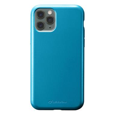 Cellularline Sensation - iPhone 11 Pro Max Custodia in silicone soft touch Petrolio
