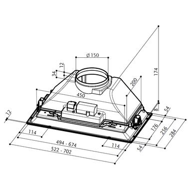 FABER  INCA SMART C GR A52 Integrato Grigio 300m³/h E