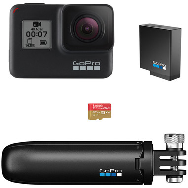 GoPro HERO7 Black Special Bundle fotocamera per sport d'azione 4K Ultra HD 12 MP Wi-Fi
