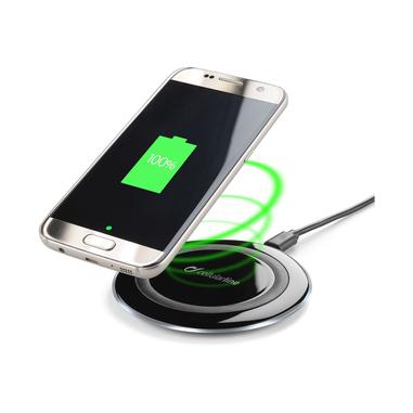Cellularline Wireless Charger Caricabatterie senza fili pratico e funzionale Nero