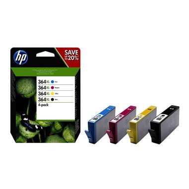 HP Confezione da 4 cartucce originali di inchiostro nero/ciano/magenta/giallo ad alta capacità 364XL