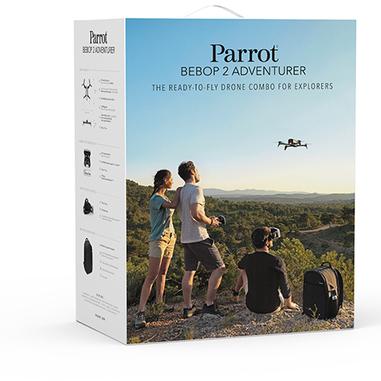 Parrot Bebop 2 Adventurer 4 rotori 14MP 1920 x 1080Pixel 2700mAh Nero, Bianco drone fotocamera