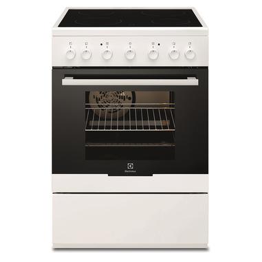 Electrolux EKC61360OW cucina Piano cottura Ceramica Nero, Bianco A