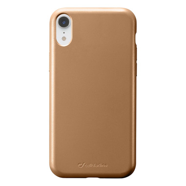 Cellularline Sensation - iPhone XR Custodia in silicone soft touch Bronzo
