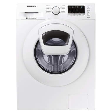 Samsung AddWash WW80K4430YW Libera installazione Caricamento frontale 8kg 1400Giri/min A+++ Bianco lavatrice