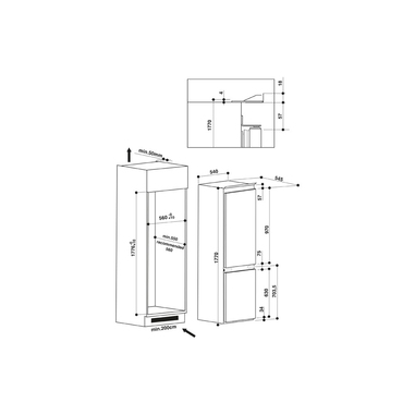 Hotpoint BCB 7030 EC AAA S 03 incasso A++ Bianco