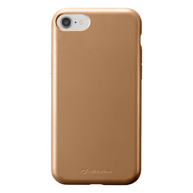 Cellularline Sensation - iPhone 8/7/6 Custodia in silicone soft touch Bronzo