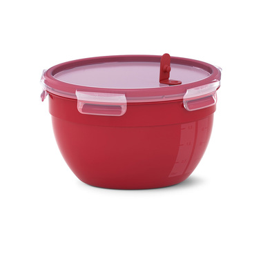 EMSA Clip & Micro Contenitore Rotondo Microonde, Rosso, 2,6 L