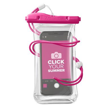 Cellularline Voyager - Universale Custodia Impermeabile per Smartphone Rosa