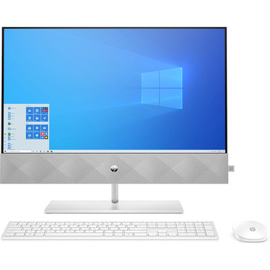 "HP Pavilion 24-k0002nl 60,5 cm (23.8"") 1920 x 1080 Pixel Intel® Core™ i5 di decima generazione 8 GB DDR4-SDRAM 512 GB SSD Windows 10 Home Wi-Fi 5 (802.11ac) PC All-in-one Bianco"